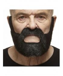Черная борода и усы