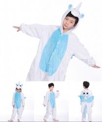 Детский кигуруми единорог: комбинезон с капюшоном (Китай)