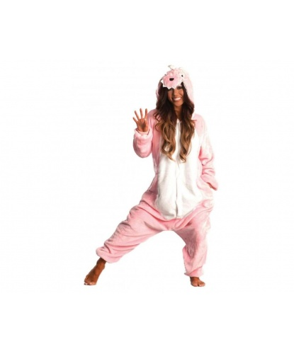 Кигуруми Розовый дракон: комбинезон с капюшоном (Китай)
