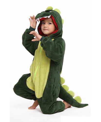 Детский кигуруми Динозавр: комбинезон с капюшоном (Китай)