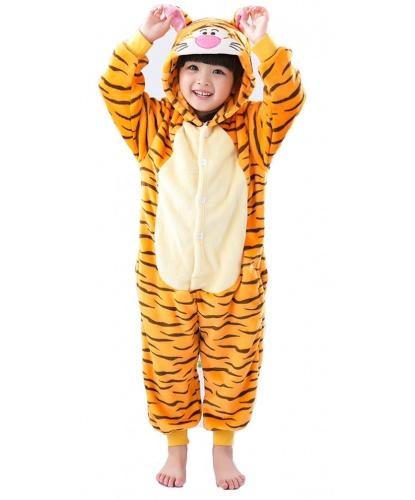 Детский кигуруми Тигр: комбинезон с капюшоном (Китай)