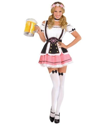 Костюм на Октоберфест: платье, фартук, чулки, ободок, чокер (Германия)