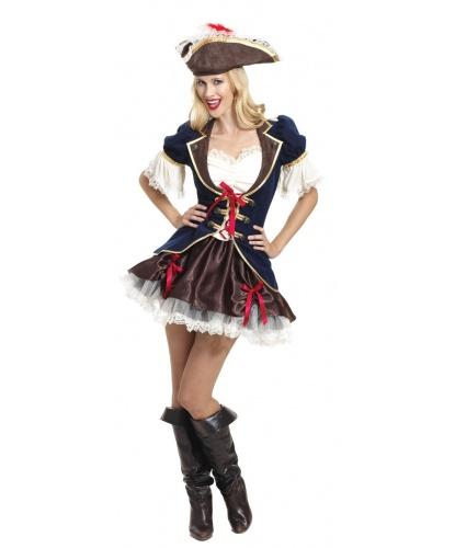 Костюм непокоренной пиратки: юбка, жакет, шляпа (Германия)