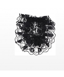 Черное жабо (15х12 см) - На шею, арт: 8402