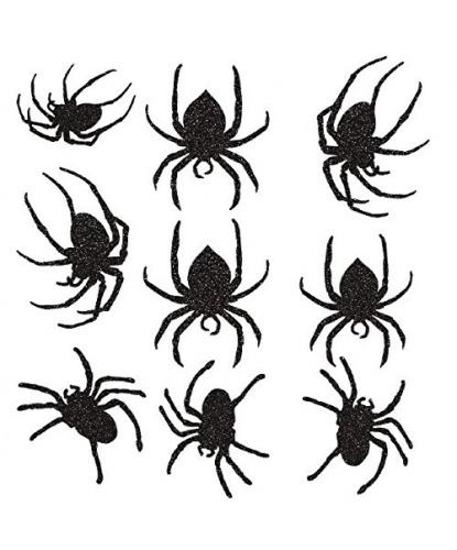 Набор пауков для декорирования (9 шт)