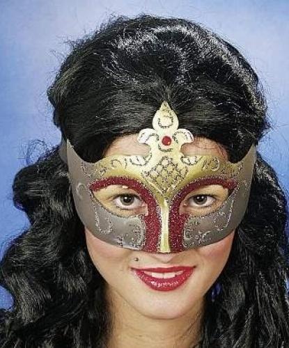Маска венецианская Золотой карнавал, пластик (Германия)