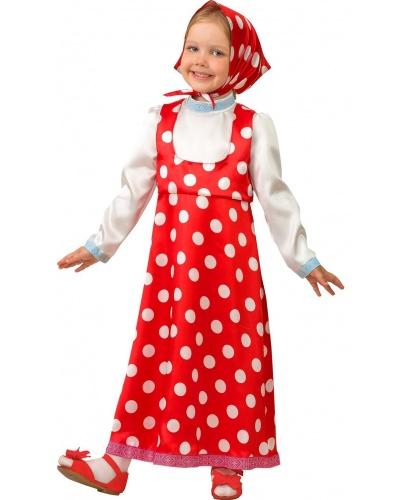 Карнавальный костюм Маша: рубаха-сарафан, платок (Россия)