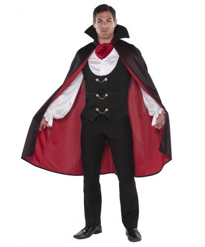 Костюм графа Дракулы: плащ с воротом, рубашка со вшитой жилеткой, шейный платок (Германия)