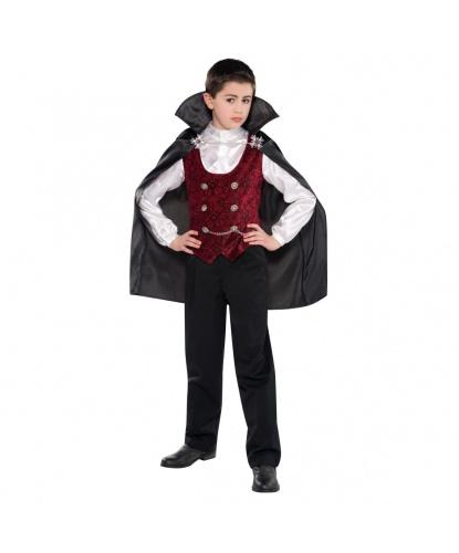 Детский костюм вампира на Хэллоуин: накидка с цепочкой, рубашка со вшитой жилеткой (Германия)