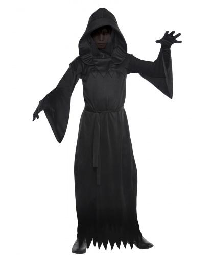 Детский костюм фантома тьмы: балахон с капюшоном, пояс (Германия)