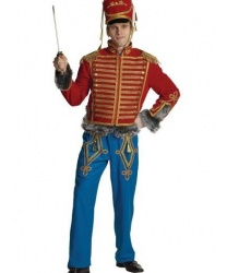 Костюм гусара взрослый: мундир, брюки, кивер, сабля