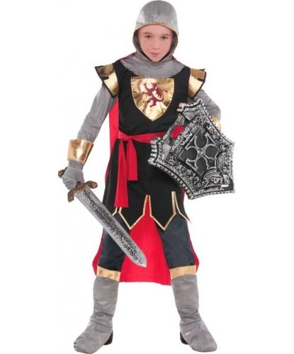 Детский костюм Рыцарь: головной убор, кофта, накидка, накладки на обувь, перчатки (Германия)