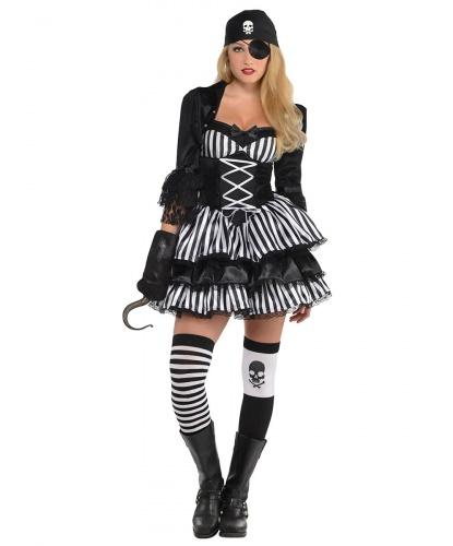 Костюм пиратки-разбойницы: платье, болеро, чулки, бандана (Германия)