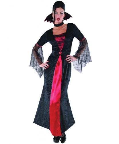 Взрослое длинное платье вампирши: платье, воротник (Германия)