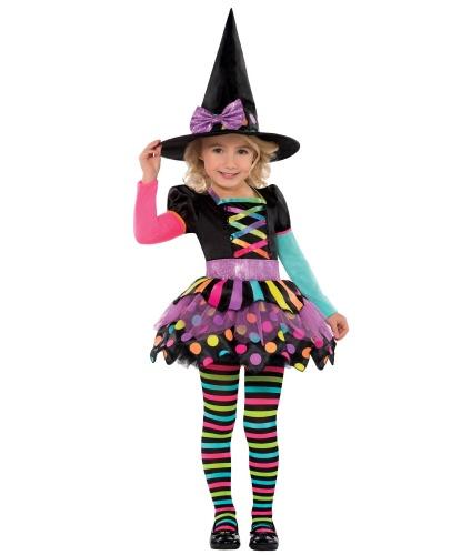 Костюм радужной ведьмы : платье, шляпа, колготки (Германия)