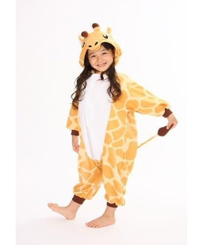 Детский кигуруми жираф: комбинезон с капюшоном (Китай)