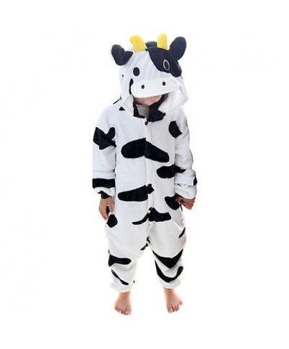 Детский кигуруми корова: комбинезон с капюшоном (Китай)