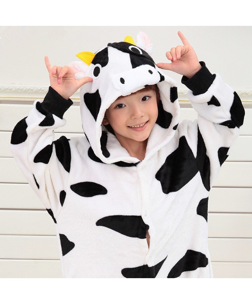 Детский кигуруми корова  комбинезон с капюшоном (Китай) 4a9a99119616b