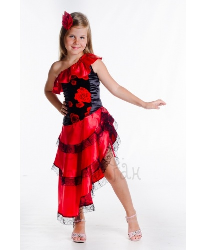 Костюм испанки Кармен: платье (Украина)