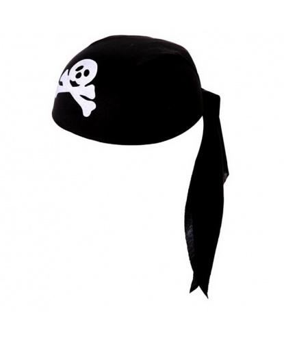 Пиратская бандана с черепом - для костюма пирата (Польша)