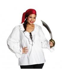 "Пиратский набор ""Белая рубашка+бандана"""