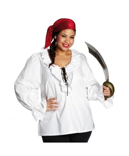 Пиратский набор Белая рубашка+бандана: рубашка, бандана (Германия)