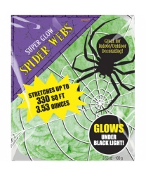 Белая паутина (светится в темноте)