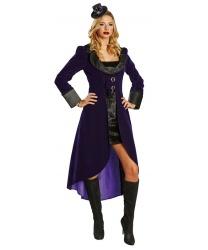 Фиолетовое платье готической вампирши