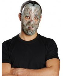 Пластиковая, хоккейная маска с потертостями