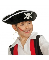 Пиратская шляпа с черепом и костями