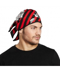 Бандана пиратская красно-чёрная
