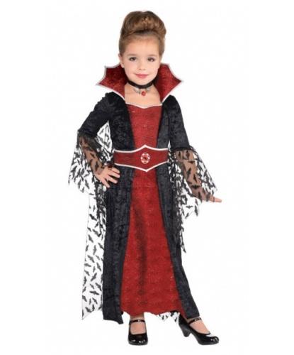 Детский костюм королевы вампиров  платье с накидкой 10bfd109f7be9