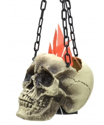 Горящий череп на цепи