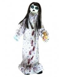 Окровавленная кукла привидение с эффектами