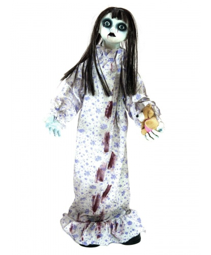Окровавленная кукла приведение с эффектами