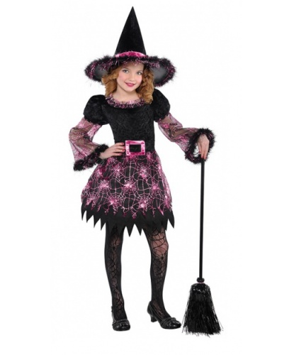 Костюм Ведьмы Розовая паутинка: платье, колпак (Германия)