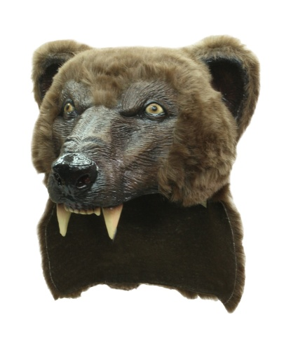 Маска бурого медведя, латекс, иск. мех (Германия)