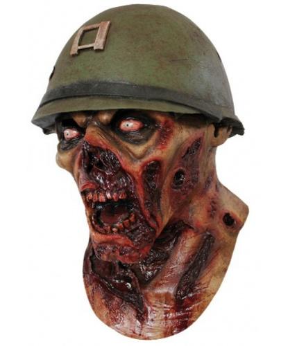 Латексная маска Зомби солдата, латекс (Мексика)