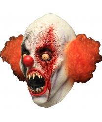 Латексная маска Сумасшедшего клоуна