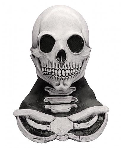 Латексная маска Череп с шеей, латекс, (Германия)