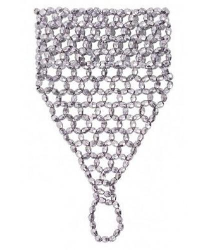 Украшение на кисть руки из бисера (серебро) (Италия)