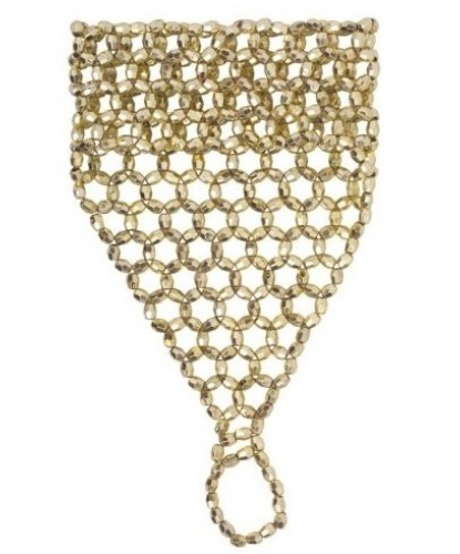 Украшение на кисть руки из бисера (золото) (Италия)