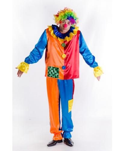 Костюм весёлого клоуна: кофта, брюки, парик, нос (Украина)