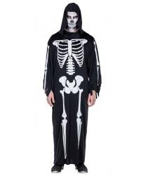 Балахон с костями скелета