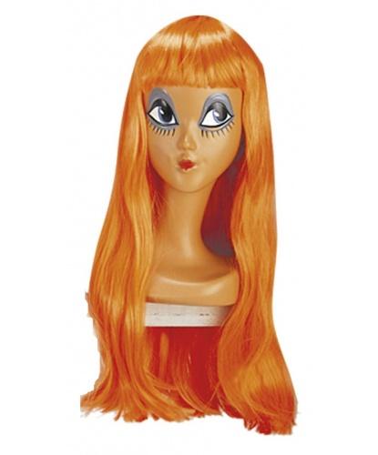 Парик оранжевый с длинными волосами и челкой : оранжевый (Италия)