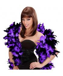 Боа фиолетовое с черным