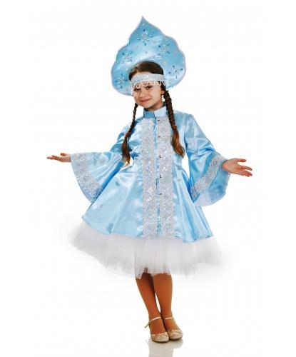 Костюм Снегурочки с юбкой-пачкой: юбка-пачка, платье c поясом, кокошник (Украина)