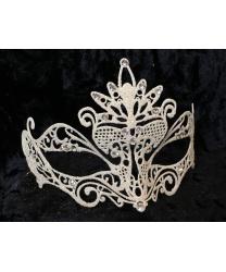 Карнавальная маска с белыми блестками
