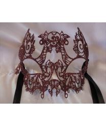 Блестящая красная маска