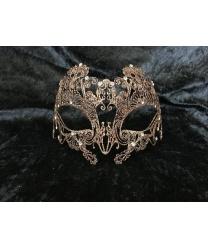 Бронзовая блестящая маска